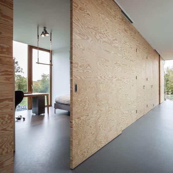 Ideas para dividir habitaciones sin paredes con triplay