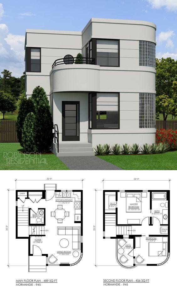 Planos de casas con medidas y fachadas