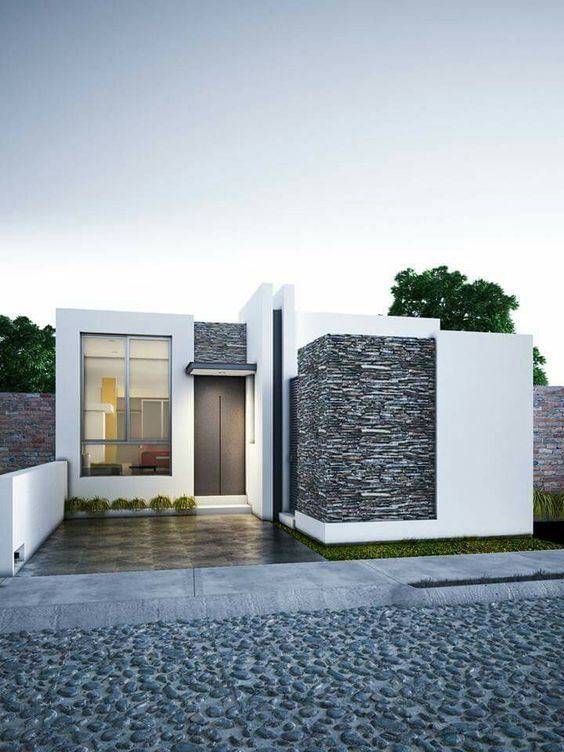 Design of small single-bedroom houses of 33 m2