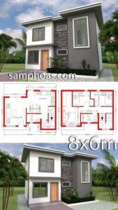 planos de casas de dos pisos gratis con medidas en metros