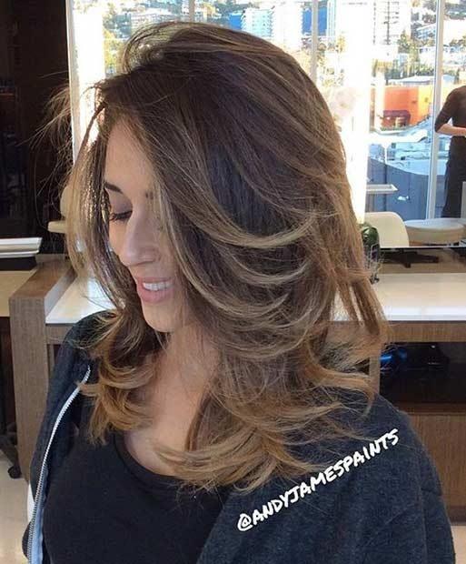 Cortes de cabello para mujeres largos en capas