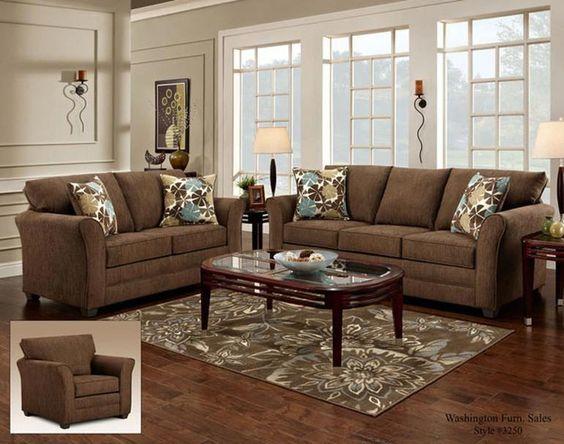 Decoración salas color beige con marrón