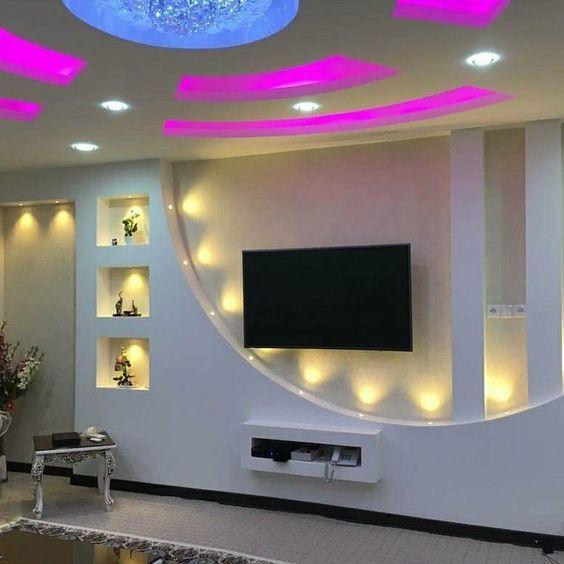 Diseños de tablaroca para muebles de television