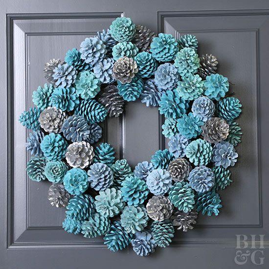Manualidades navideñas plata y azul