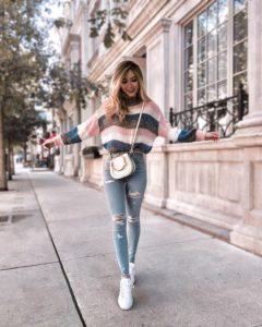 Outfit de invierno con jeans 2019