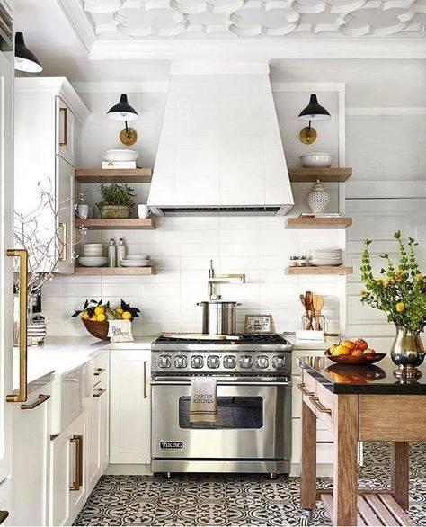 Repisas rusticas para cocina