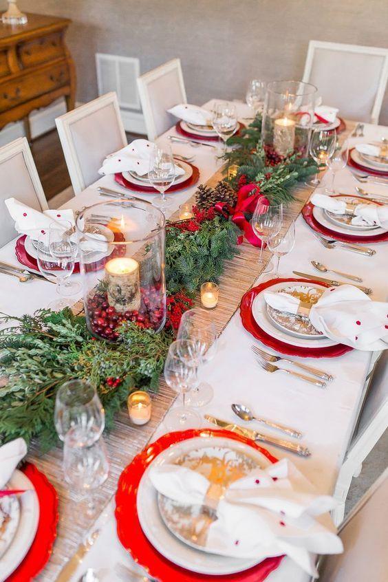 adornos navideños elegantes para el comedor
