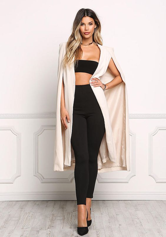 blazer o chaqueta abierta de moda larga