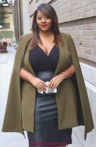 blazer o chaqueta abierta de moda para chicas talla grande
