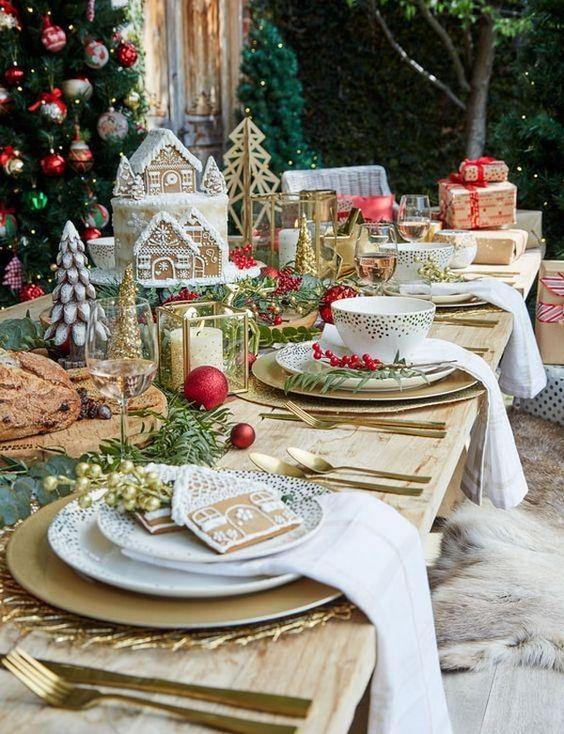 como decorar el comedor en navidad