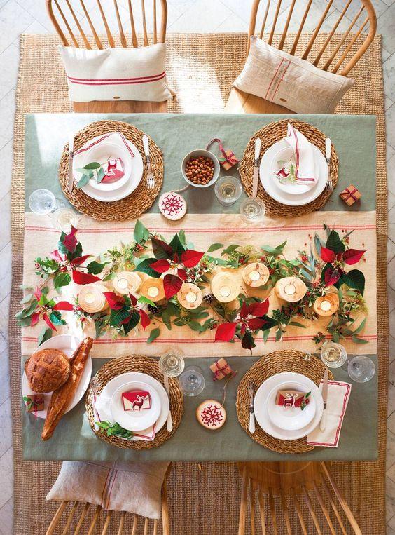 como decorar el comedor en navidad con velas