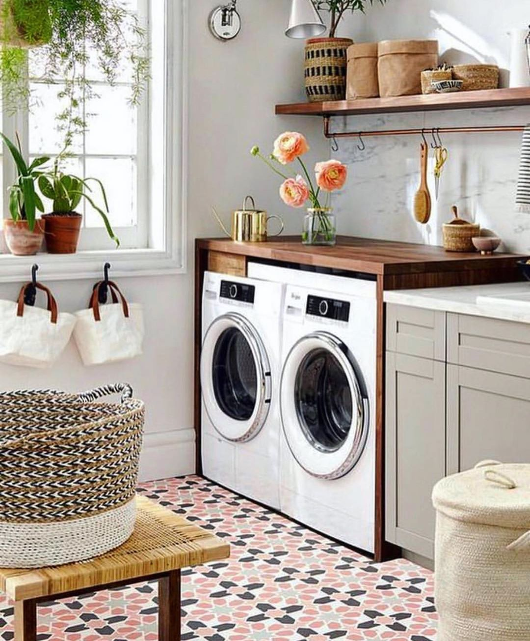 cuartos de lavado rusticos