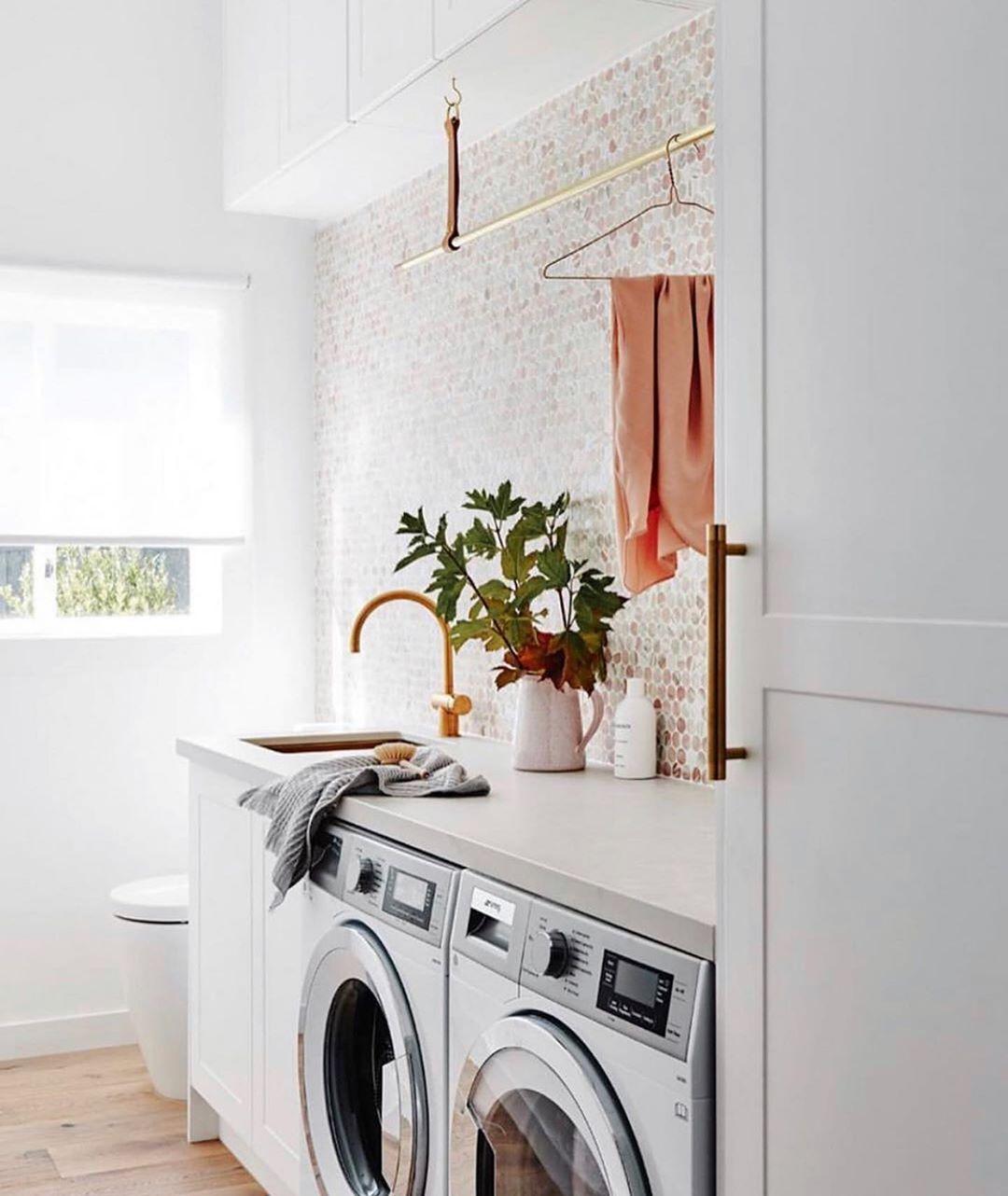 cuartos de lavados modernos y minimalistas