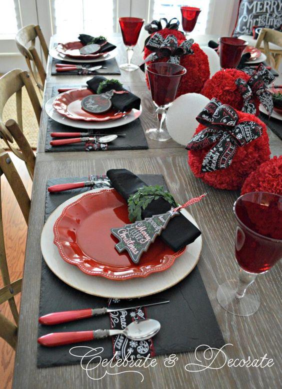 decoracion de comedores navideños