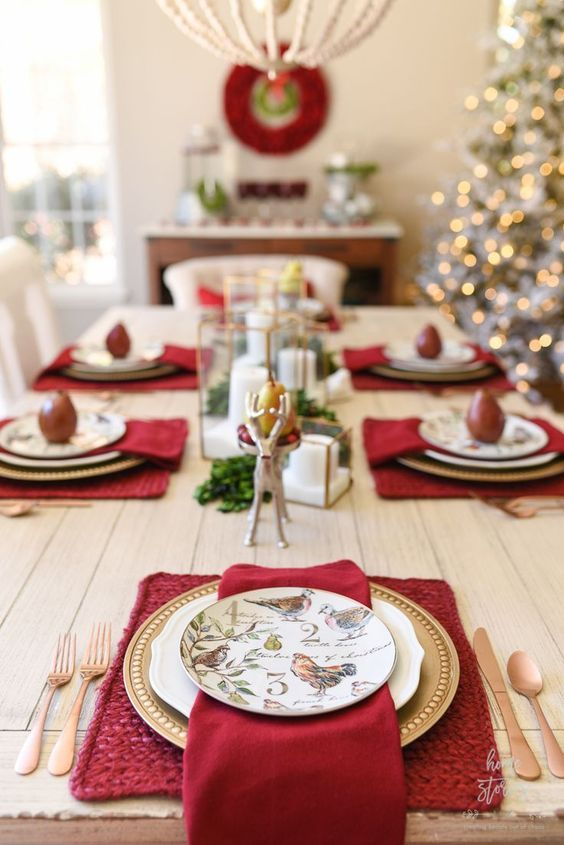 decoracion de comedores sencillos para navidad