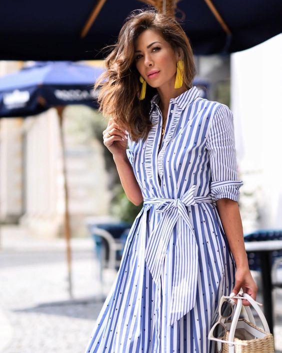 vestidos con rayas para mujeres de 40 o mas