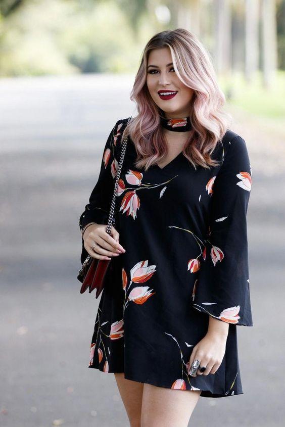 vestidos de moda para mujeres gorditas de 40 o mas