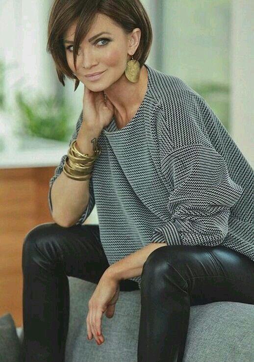 cortes de cabello corto para mujeres de 40 cara redonda