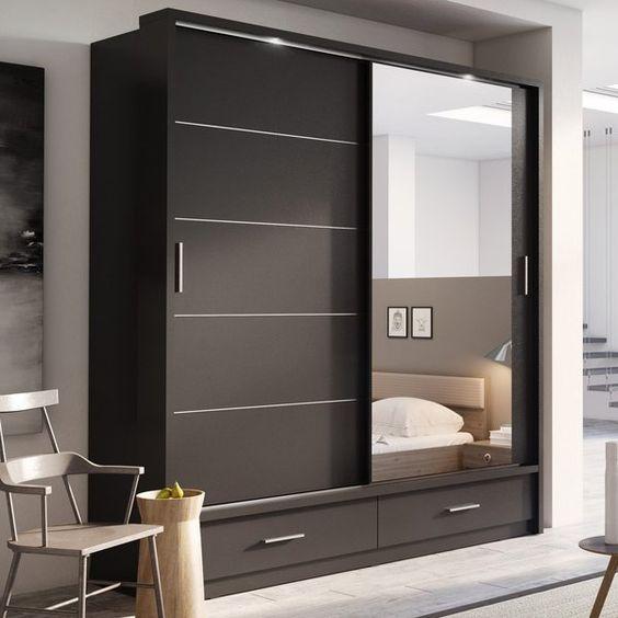 closet de madera modernos 2019 color chocolate