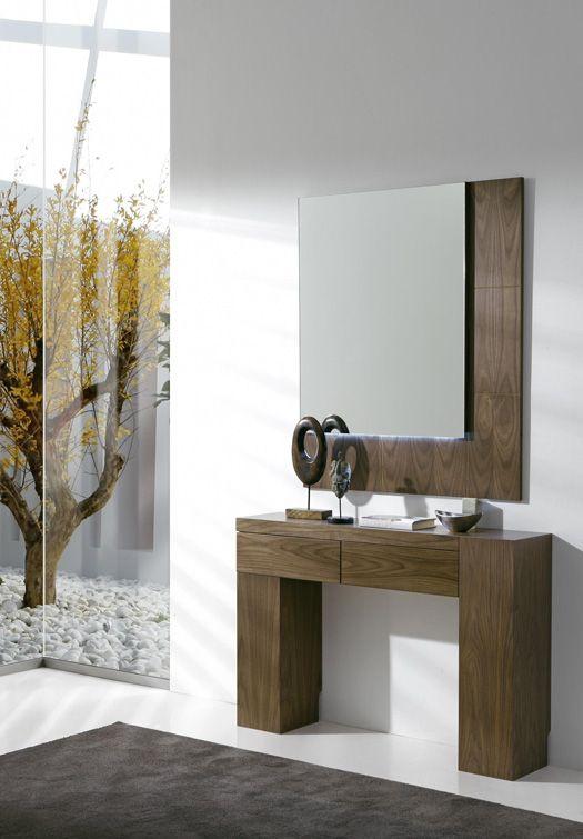 como decorar tu sala con tocador moderno y minimalista