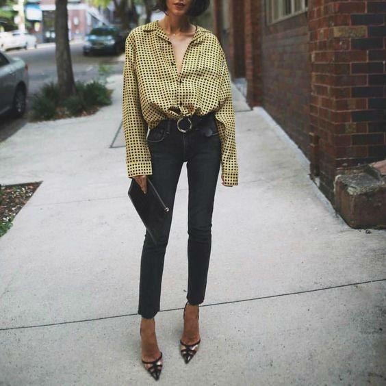 consejos de como usar blusas extragandes y lucir elegante