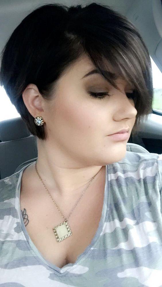 corte de pelo pixie para mujer de 40 cara redonda
