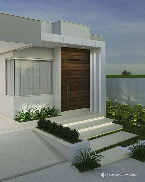 diseño de jardines delanteros de casas modernos