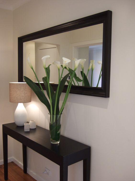 espejo con tocador para decorar tu sala
