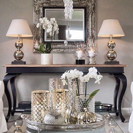 espejo y tocador para salas vintage