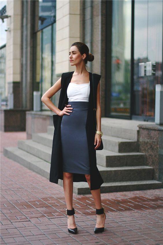 ideas de como usar un vest - chaleco largo de moda