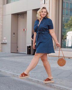 moda para mujeres de 40 años 2019 plus size con vestidos