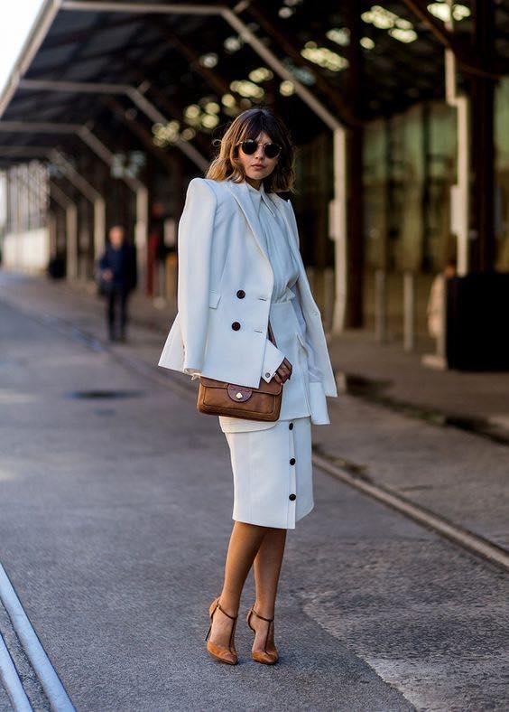 moda para mujeres de 40 modernas 2019 con faldas