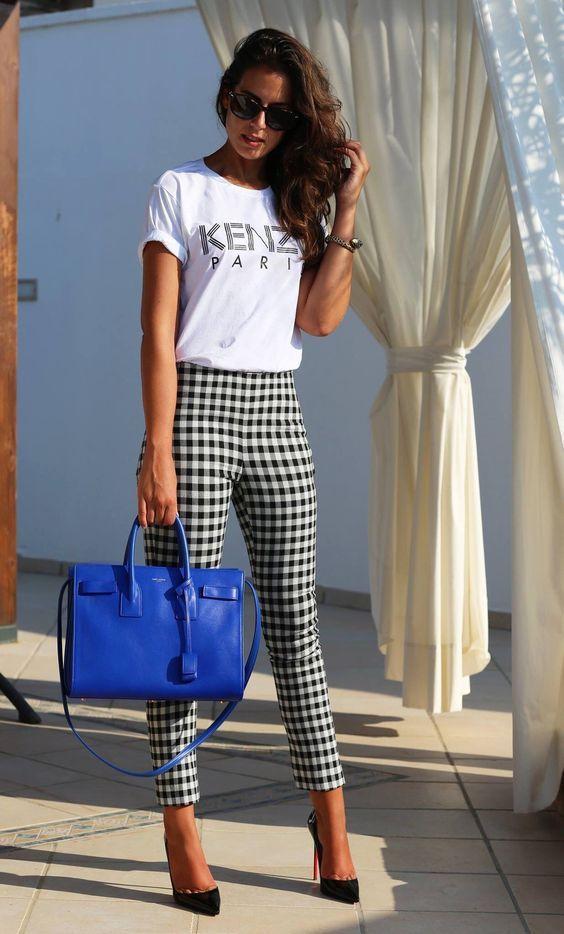 vestimenta para oficina mujer moderna con estampados