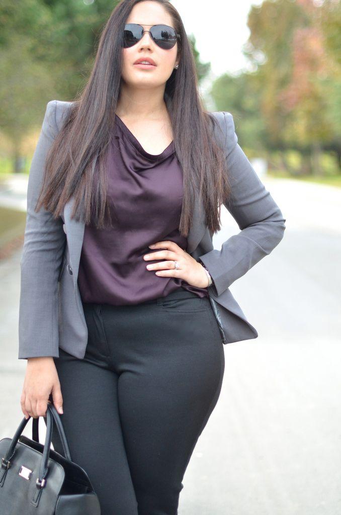 blazer para favorecer tu look de oficina si eres gordita