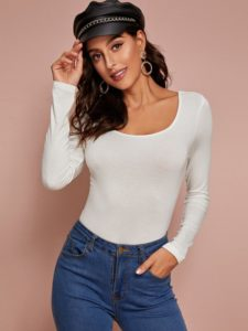 blusas de moda invierno 2019 - 2020 colores lisos