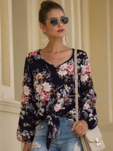 blusas de moda para otoño con estampados