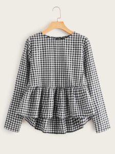 blusas de moda y tendencia 2019 - 2020 otoño invierno con cuadros