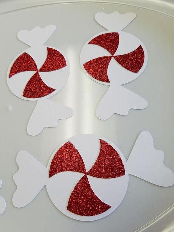 caramelos de foami para navidad