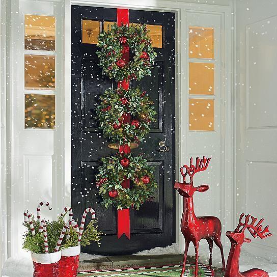 caramelos navideños para decorar la entrada de la casa