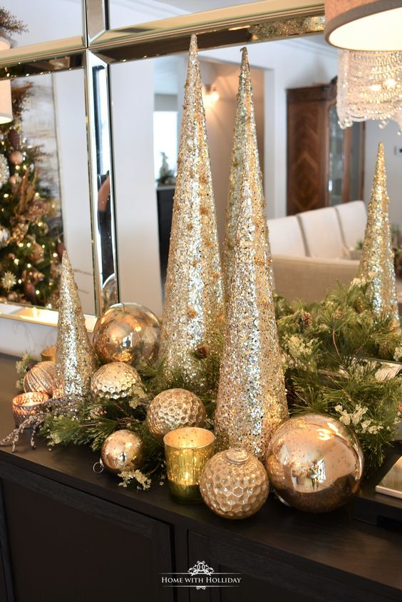 centros de mesa navideños y elegantes para decorar la casa
