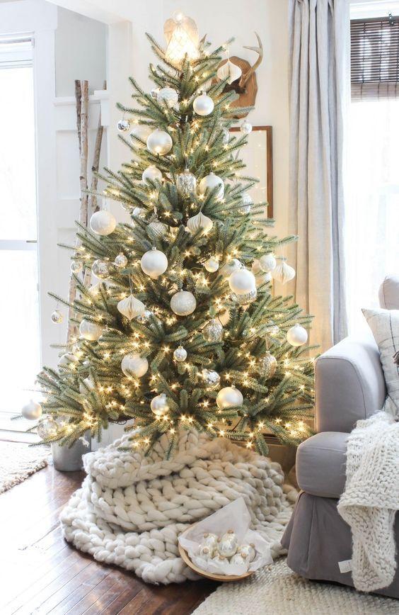 decoracion navideña elegante y magica para pinos