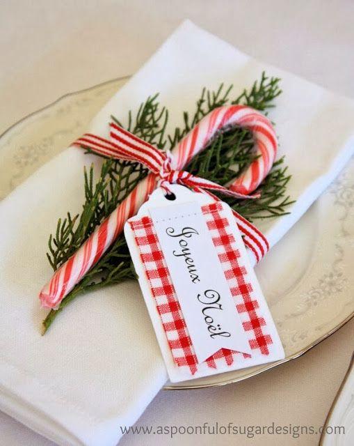 detalles con caramelos para decorar el comedor en navidad