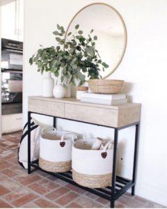 espejos para montar recibidores pequeños y pasillos