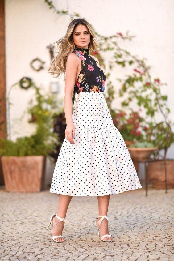 faldas con lunares de moda