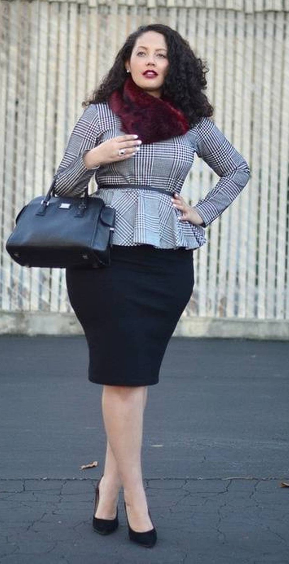 faldas de oficina tipo lapiz para gorditas de moda