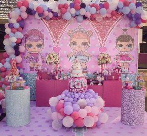fiesta de lol surprise para niña de tres años
