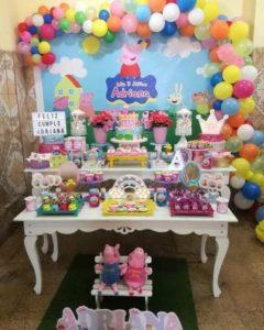 fiesta pepa pig para cumpleaños de tres años