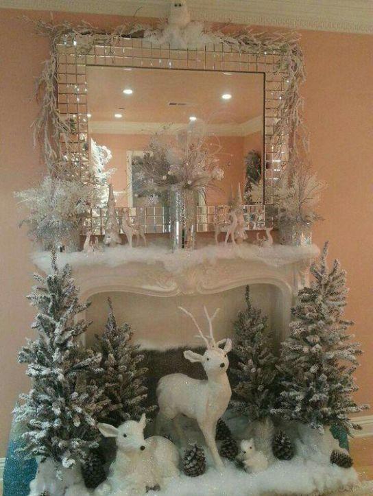 guirnaldas elegantes para decorar espejos durante navidad