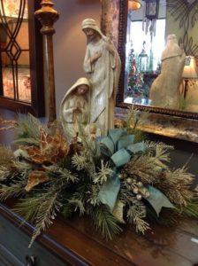 guirnaldas y nacimientos navideños elegantes