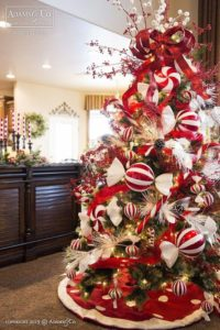 ideas para decorar arboles de navidad con caramelos